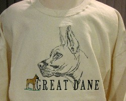 Embroidered Great Dane Sweatshirt