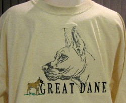 Embroidered Great Dane T-Shirt