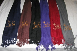 Embroidered Great Dane Scarf