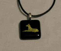 Fused Glass Great Dane Necklace