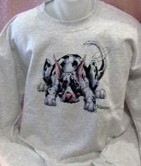 Laying Harlequin Dane Sweatshirt